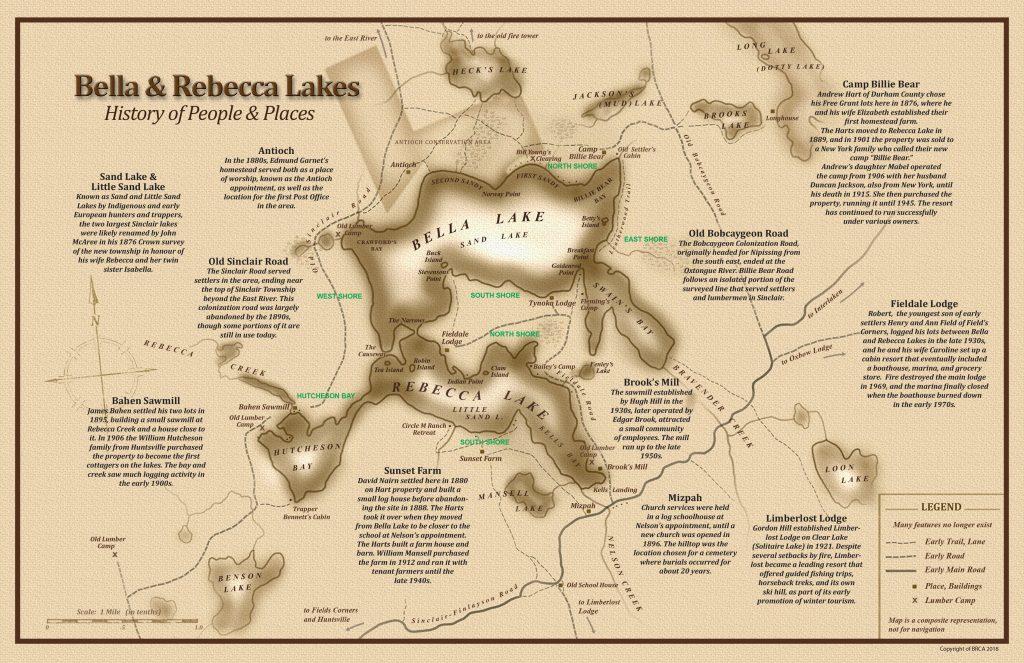 Bella Lake Historical Map Jay Richardson Real Estate